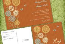 Sunflower inspired wedding / Whimsy sunflower wedding invitation
