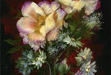 Arreglos florales de pi n al óleo