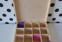 Wooden tea boxes DIY