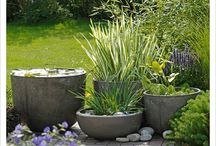 """Container Ponds & Ponds in a Pot / Short on space? Container pons and """"ponds in a pot"""" fit anywhere."""