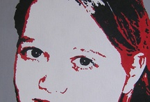 Portretschilderijen Popart / Unieke schilderijen in  pop-art stijl of 2-kleurig...prachtige (blijvende) woonaccessoires. Ik maak ze in opdracht en je kunt ze zelf schilderen in een workshop. Meer info op: www.exactelke.com