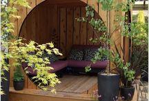 Posezení v zahradě