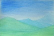 Waldorf watercolor paintings & form drawng
