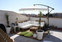 terrazas en azotea con jardín natural