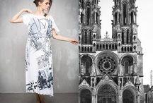 ГА_001 Платье Абстракция с натуральношелковыми крылышками