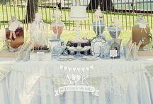 A&K Lolly Buffet {Peach & Grey French Vintage Wedding Dessert Table} / http://aandklollybuffet.com.au/peach-and-grey-french-vintage-wedding-dessert-buffet/