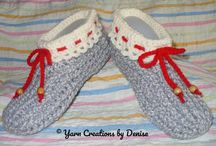 Crochet Twisted Ribbed Slippers