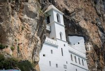 Ostrog Monastery, Montenegro / Ostrog Monastery is the holiest site in Montenegro and all of the former Yugoslav states. Built into a cliff face, it's a stunning marvel of dedication and engineering.