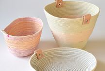 Coiling baskets