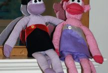 Sock Monkey Madness / Year 6 and 7 Textile Club create works of darned genius.