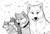 lobos a lápiz
