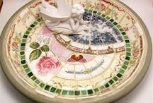 Mosaic birdbaths / Birdbath designs for my mosaic work