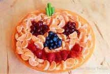 Halloween fruit platters