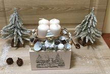 Karácsonyi/adventi munkáim 2017 / Saját készítésű adventi tálak/boxok, karácsonyi asztaldíszek, kopogtatók, dekorációk. További képek megtekinthetőek a Provance Dekorműhely oldalamon www.facebook.com/provancedekormuhely