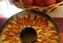 μηλόπιτα σε φόρμα με σοκολάτα