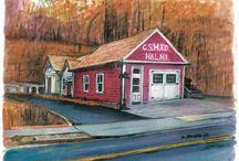 Cold Spring Harbor, Huntington Historic Sites