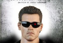 Arnold Schwarzenegger Terminator 2 / Terminator 2: Judgment Day (1991). A cyborg, identical to the one who failed to kill Sarah Connor, must now protect her young son, John Connor, from a more advanced cyborg, made out of liquid metal. Director: James Cameron Stars: Arnold Schwarzenegger. Action Figure by Hot Toys. Sideshow Collectibles and Hot Toys are proud to present the T-800 - DX Series Sixth Scale Collectible Figure based on the image of Arnold Schwarzenegger in the movie, highlighting the newly developed head sculpt. / by Farrah Fawcett
