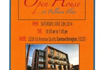 Open House at Pullman Flats / Where:  2226 1st Ave S  Birmingham, AL. 35233 Date: Saturday, June 28th, 2014 Time: 10:00 am - 1:00 pm Contact: Roxane Jones with LAH Real Estate Inc.  205-447-5000