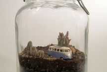 Forest in jar