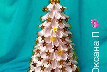 Vánoce - kanzashi