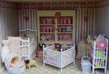 Children's room in miniature, dollhouse scala