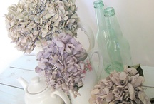 Dried hydrangea flowers / Dried hydrangeas - very Laura Ashley! I can't help noticing that these dried flowers are very popular at weddings.