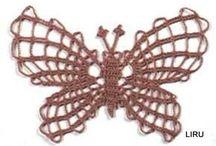 Mariposas Crochet / diferentes patrones de mariposas para realizar en crocher con patrones