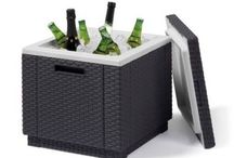 Garden Cool Box Rattan Ice Bar Outdoor Party Drinks Chiller Storage Unit Balcony