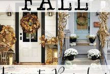 Simple Fall Front Porch Ideas / Easy Ideas for how to decorate your porch this fall.  Some pins are not as simple but take inspiration, make it simple and make it your own as we all welcome fall.