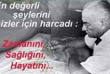 Atatürk ile resimler & yazilar