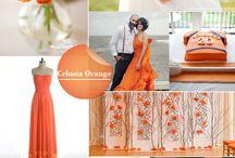 Wedding color trend celosia orange orange