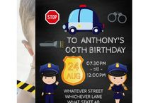 Police themed Birthday Party Suite / Kids Policeman or Policewoman Birthday Party