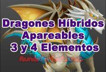 Dragones Hibridos Apareables 3 y 4 Elementos