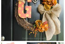 Thanksgiving decor and crafts / Great thanksgiving decorations and crafts / by Maudie's Treasures Giftshop
