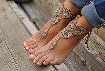 crochet pied