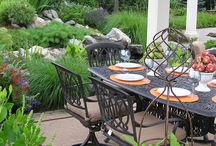 Lush Outdoor Living Spaces  / Custom landscape design build projects created by Garden Design Inc. in the Lehigh Valley of Pennsylvania. These projects feature lush landscape plantings and landscape planting designs.