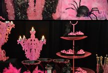 Pink and Black Halloween Party