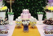 Decoración de Rapunzel para fiestas