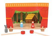 Théatre & Marionnettes à main, à doigt, en bois, en tissu ou en peluche