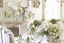 setting pretty / tables, dishes and place settings