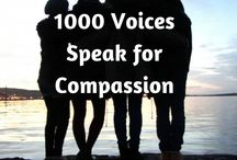 "1000 Voices for Compassion / A collaborative board curated by participants of #1000Speak, 1000 bloggers & vloggers posting about compassion, kindness, caring for others, non-judgment, and self-compassion on one day, February 20, 2015! Contributors, please pin posts related to only those topics. Any posts off topic will be deleted without notice. If you are interested in being a contributor, please send your PINTEREST email address to meplus3today@gmail.com with a subject of ""Please add to 1000 Voices for Compassion."""