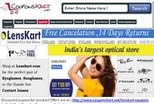 Lenskart - Buy sunglasses , aviators online in india / Lenskart.com offers sun glasses , contact lenses, eye frames , eye glasses , powered sun glasses in India .Discount coupons through Couponskart.net offers discounts on lenskart products . Lenskart coupons are available at http://www.couponskart.net/lenskart-coupons