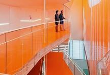 colorful architecture/interiors