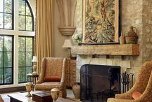 Fireplace mantles / by Roxanne Sowers