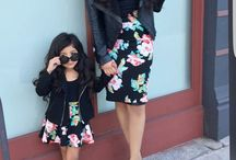 Mother and daughter outfits