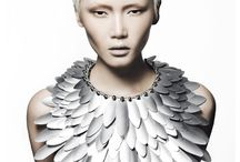 Avant Garde / Unusual hair, outfits... Possible things/materials to use:  Tin Foil, wire, styrofoam, beads/gems, rope, metal