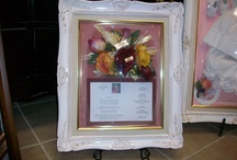 Funeral Flowers Freeze Dried and Encased  / Freeze Dried Flowers from Memorial/Funerals encased in frame of your choice to create an heirloom memory piece in honor of a lost love one.