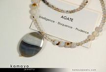 Gemstone Necklaces / Beaded necklaces made from genuine gemstones