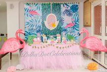 Flamingo Themed Party / styled by www.polkadotcelebrations.com