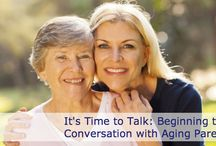 It's Time to Talk / As an adult, it can be difficult to address the fact that your parents, the people who have always taken care of you, are getting older and may need assistance as they plan ahead. However, talking with your parents now will help you better honor their wishes in the future. This blog series will take you through how to approach some of these challenging conversations.